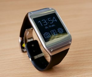 how to take care of your smartwatch - Galaxy Gear standing upright