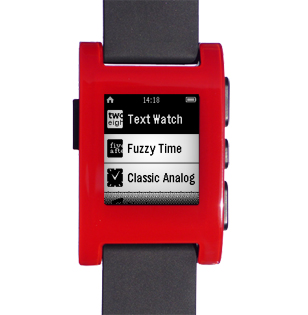 Pebble select watchface