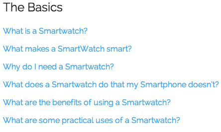 smartwatch faqs