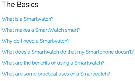 smartwatch faqs