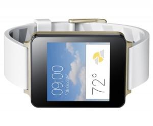 LG G Watch sideways white