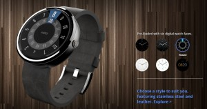 Moto 360 six digital watch faces