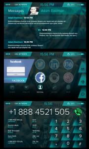 The Portal smartphone wearable UI