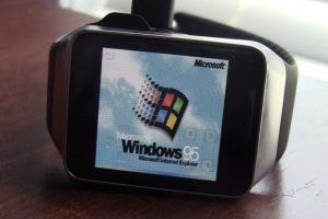 Windows 95 running on Android Wear smartwatch