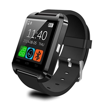 CIYOYO-U8S-Waterproof-Smart-Watch-Phone-Mate-With-SyncBluetooth-30Anti-lost-Alarm-for-Apple-iphone-44S55C5S-Android-Samsung-S2S3S4Note-2Note-3-HTC-Sony-Blackberry-With-Free-CIYOYO-Earphone-Color-Black-0