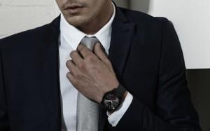 G Watch R being worn