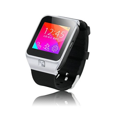 LEMFO-S28-Smartwatch-154-inch-Touch-Screen-Smart-Watch-Phone-for-Samsung-Huawei-HTC-etc-Android-Smartphone-Support-Call-SIM-Apps-Notification-Sync-FM-TF-Anti-Lost-Pedometer-Sleep-Monitor-Silver-0