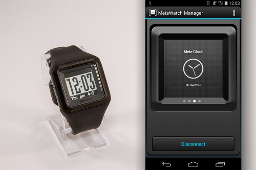 metawatch strata smartwatch for iphone and android loves