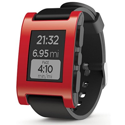 Pebble-Smart-Watch-for-iPhone-and-Android-Devices-Red-0