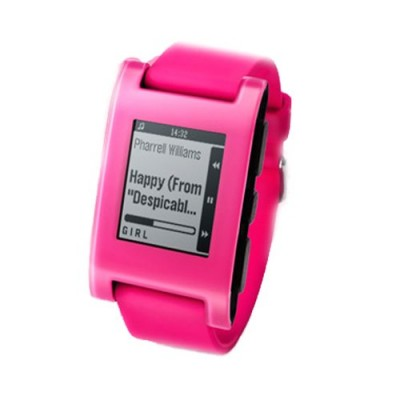 Pebble-Smartwatch-for-iPhone-and-Android-Hot-Pink-0