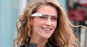 Google Glass being worn by model