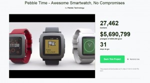 Pebble Time Kickstarter page