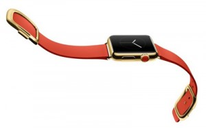 Apple Watch Edition bright red modern buckle