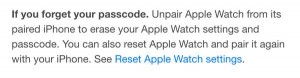 Apple Watch user manual reset instructions