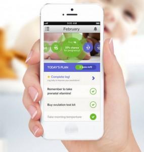 Glow fertility tracker app for iOS