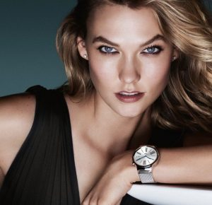 Huawei Watch promo with model