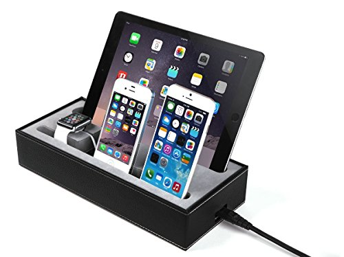 4 in 1 apple watch stand iphone ipad charging station multiple iphone ipad charging dock. Black Bedroom Furniture Sets. Home Design Ideas
