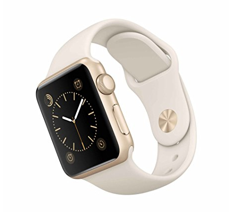 Apple Watch Sport 38mm with White Band and Gold Case