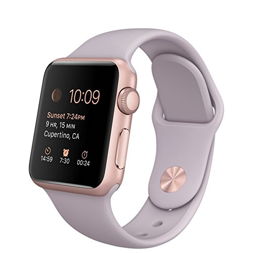 apple watch sport 38mm with lavender band and rose gold