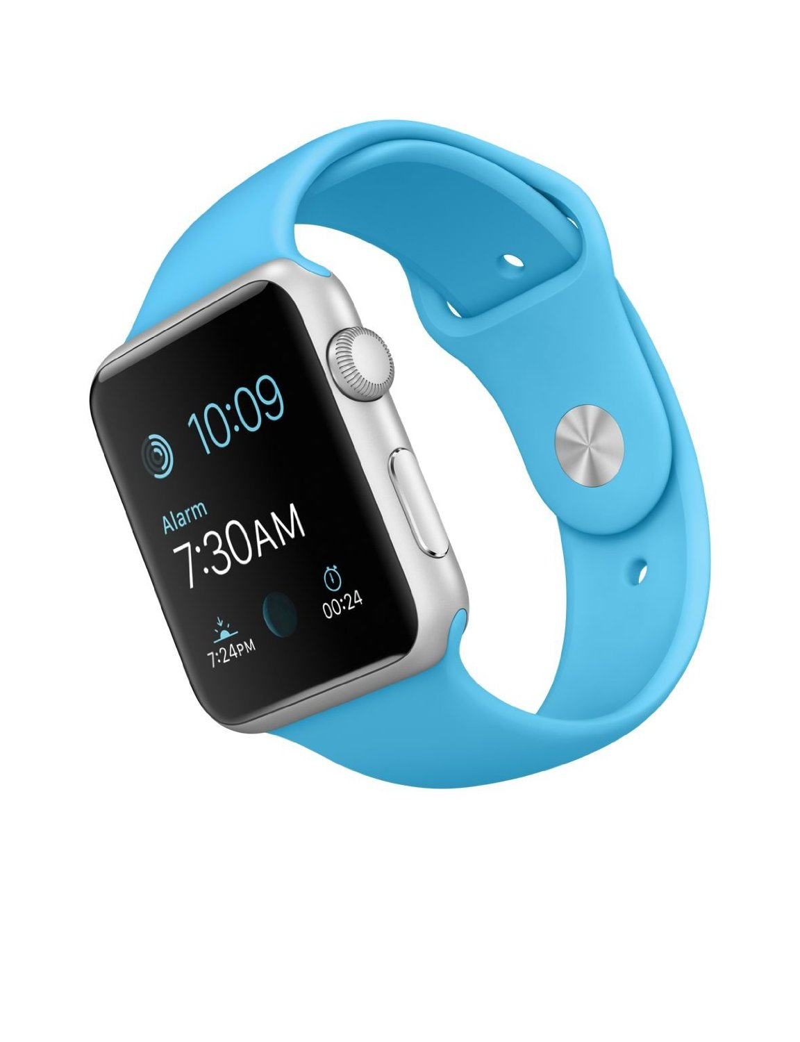 Apple Watch Sport 42mm with Blue Band and Silver Case