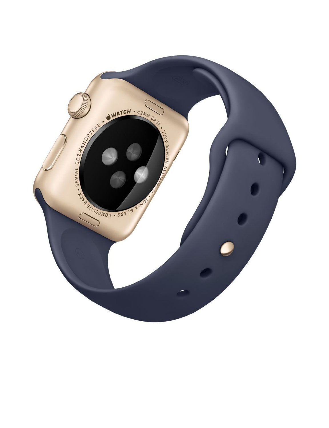 Apple Watch Sport 42mm with Midnight Blue Band and Gold