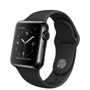 Original-Apple-Watch-38mm-fits-51-78-wrists-Stainless-Steel-Case-Black-Sports-Band-0