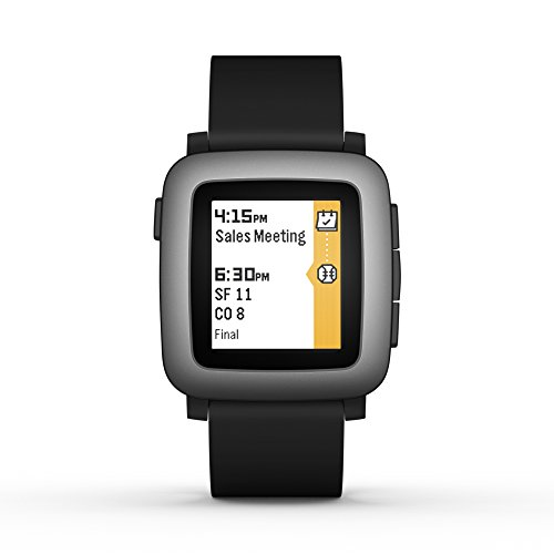 Pebble time smartwatch in black for Pebble watches