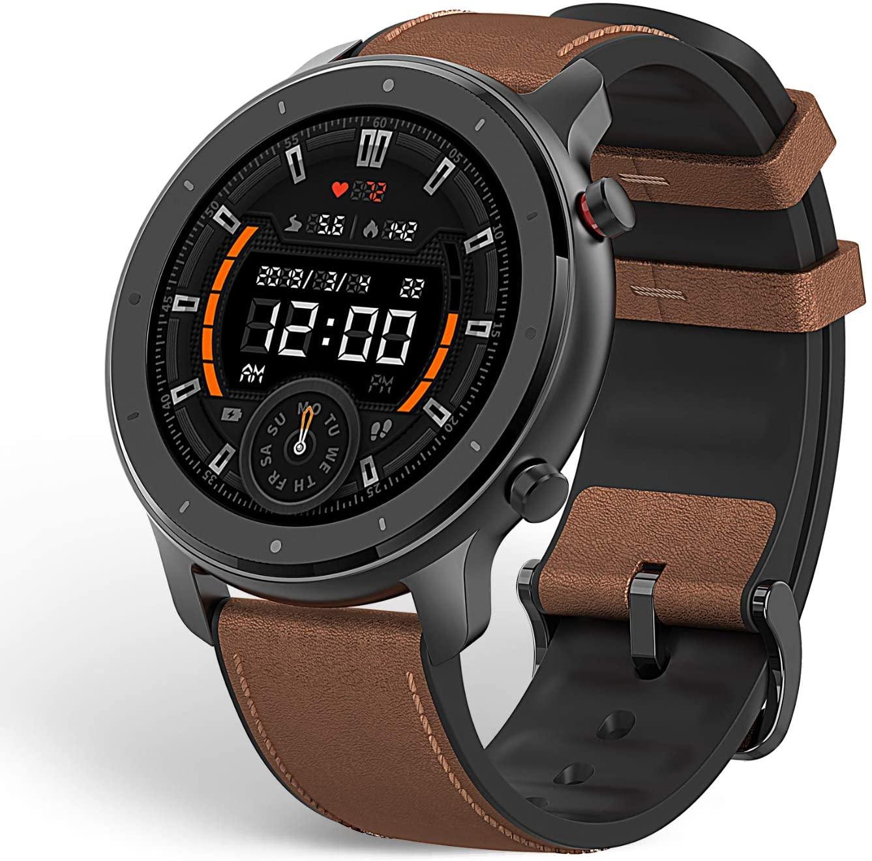 amazfit gtr smartwatch isolated on white background