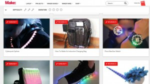Maker Faire DIY Projects portal