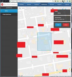 Bay Alarm Medical GPS GeoFencing Map