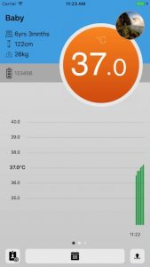myki care smart thermometer mobile app screenshot