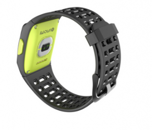 iWOWNfit P1 smartwatch rear with HR sensor