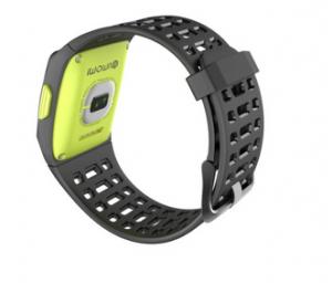 iWOWNfit P1 smartwatch rear with HR sensor