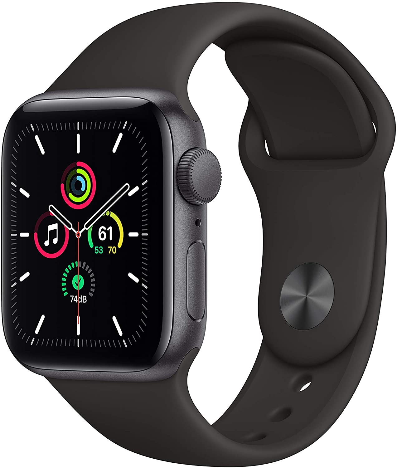apple watch se gps watch isolated on white background