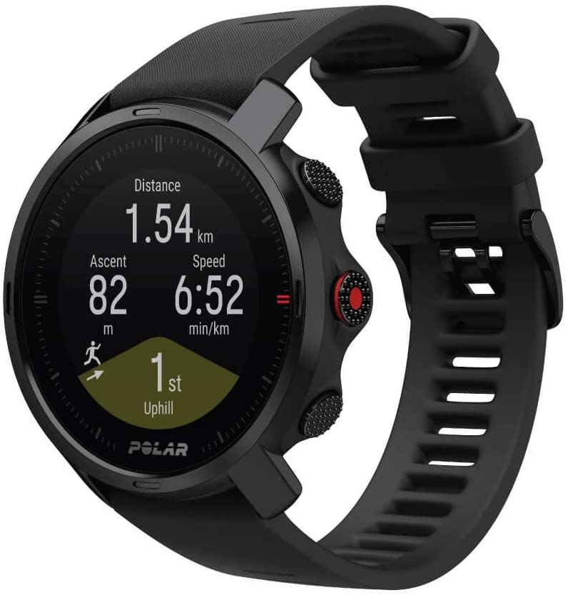 polar grit x rugged outdoor watch with gps black color