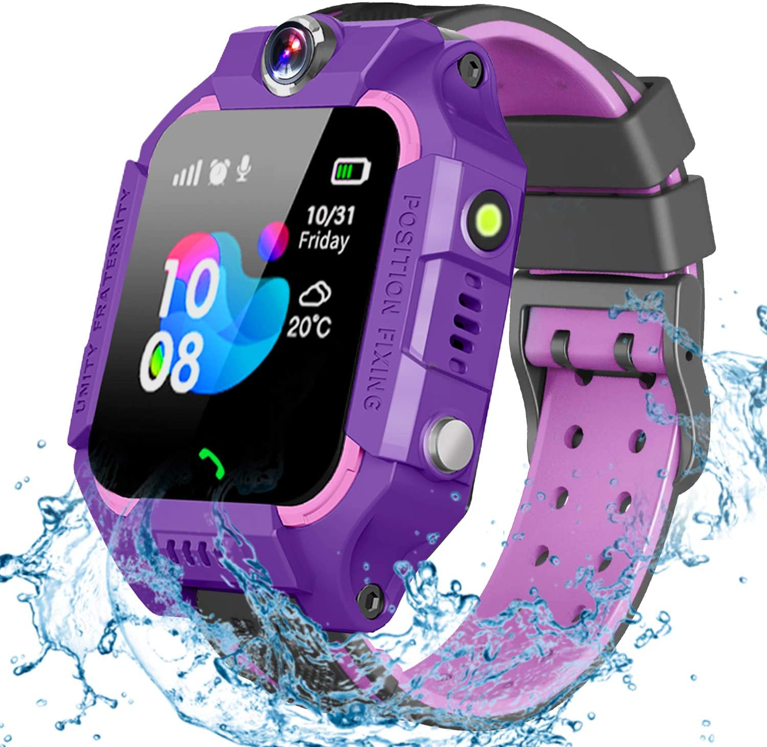 gbd smartwatch for kids purple color isolated on white background