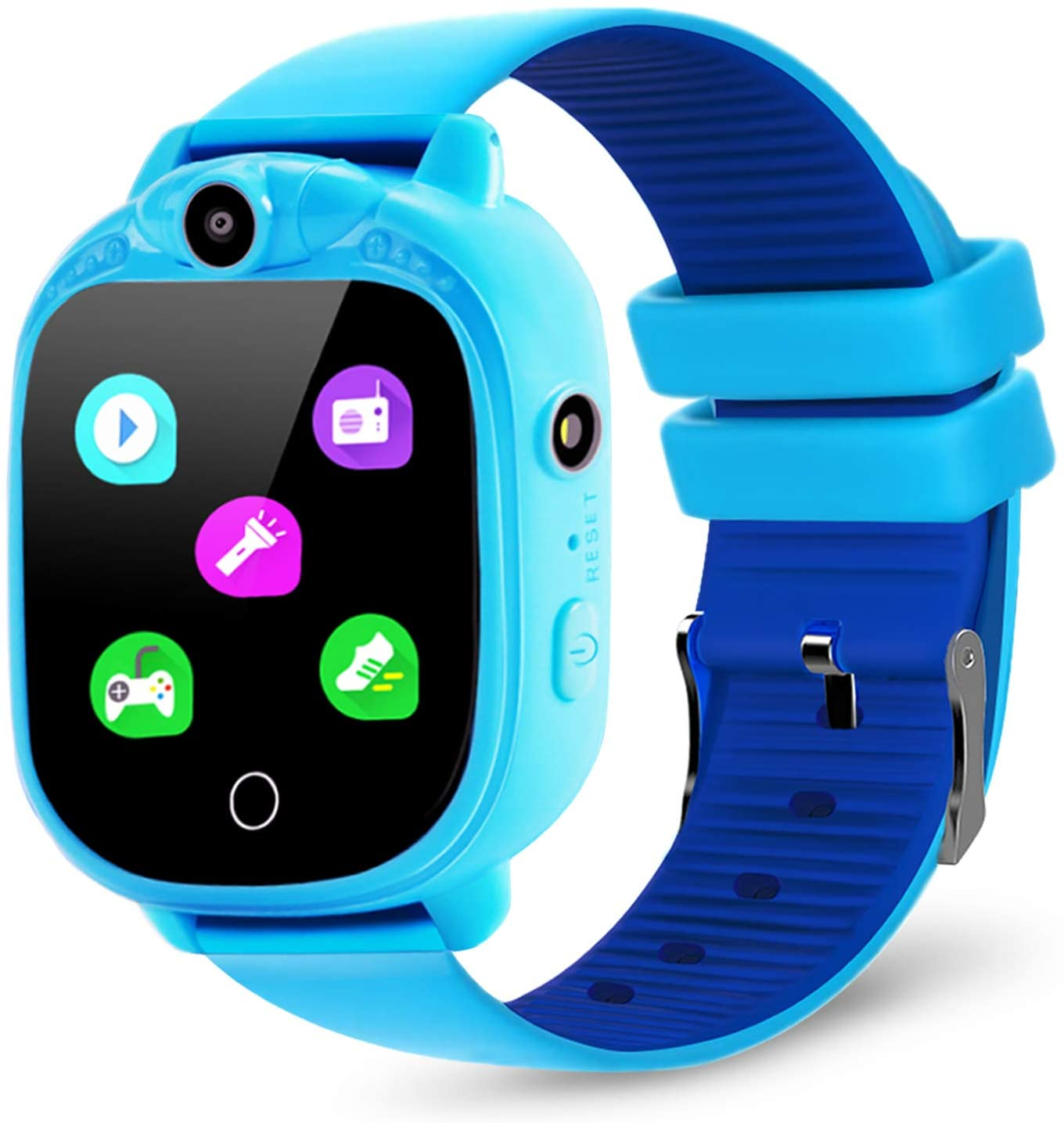 prograce kids smartwatch blue color, isolated on white background