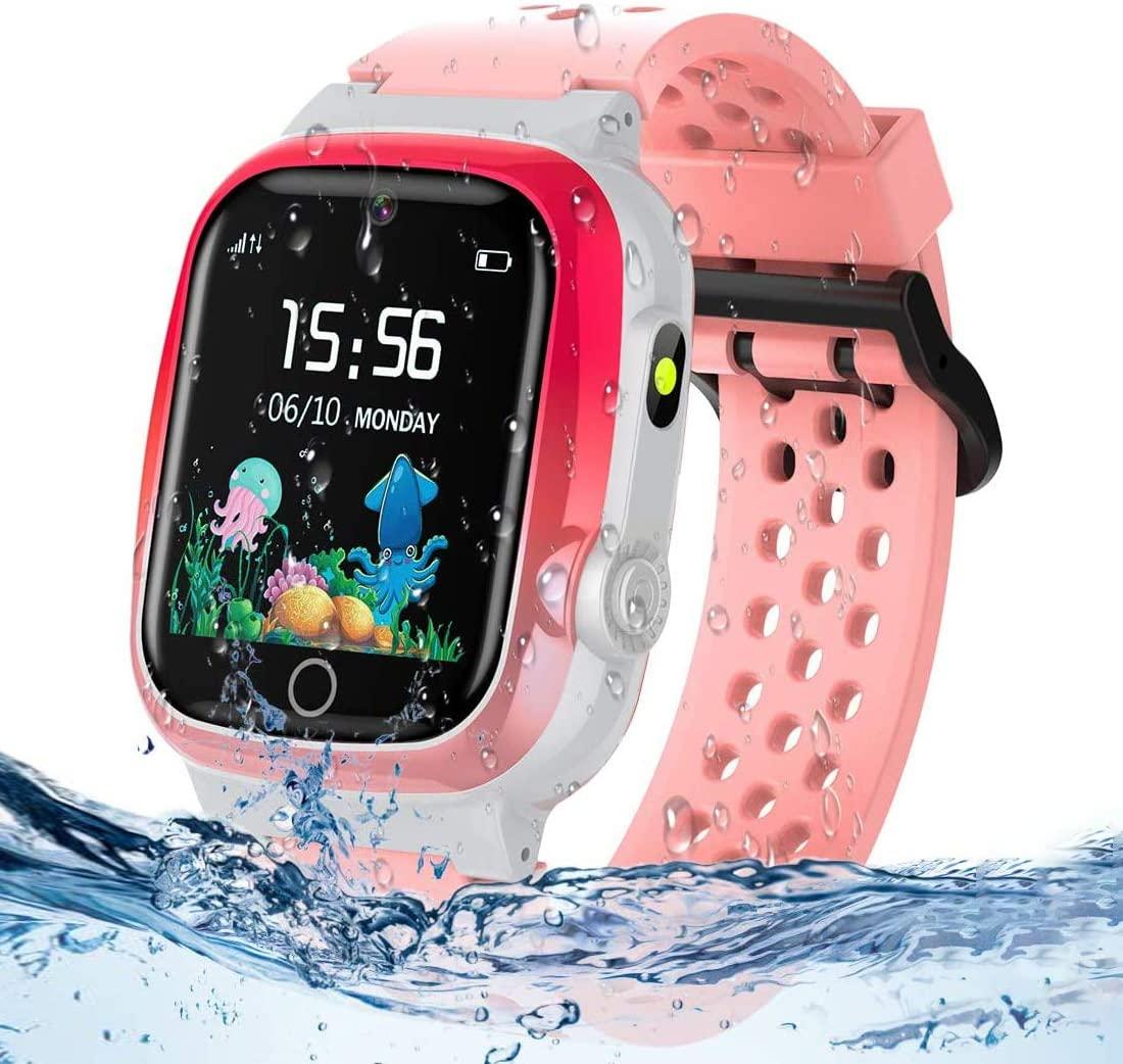 themoemoe kids gps watch pink color